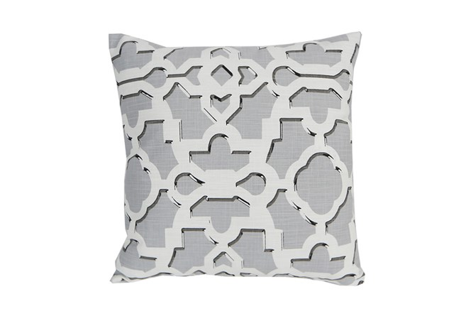 Accent Pillow-Island Gate Silver 18X18