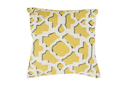 Accent Pillow-Island Gate Yellow 18X18