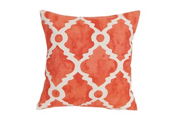 Accent Pillow-Faded Clover Coral 18X18