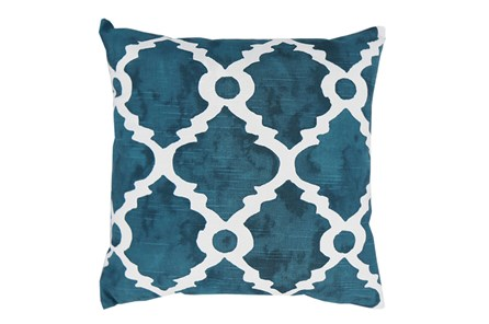 Accent Pillow-Faded Clover Teal 18X18 - Main