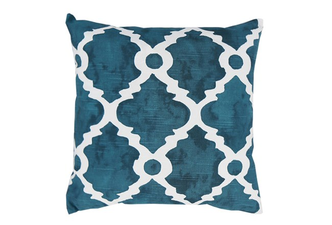 Accent Pillow-Faded Clover Teal 18X18 - 360