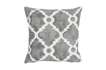 Accent Pillow-Faded Clover Grey 18X18