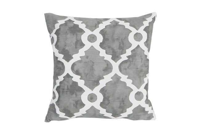Accent Pillow-Faded Clover Grey 18X18 - 360