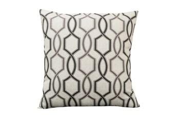Accent Pillow-Hampton Trellis Black 18X18