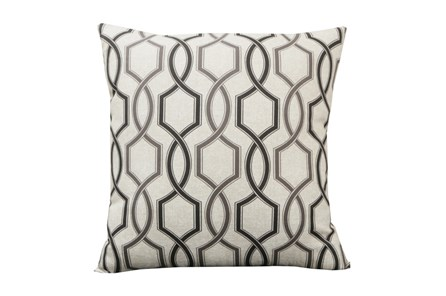Accent Pillow-Hampton Trellis Black 18X18