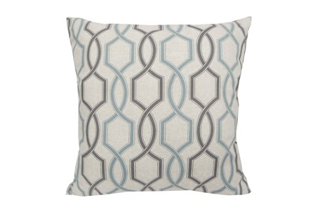 Accent Pillow-Hampton Trellis Teal 18X18