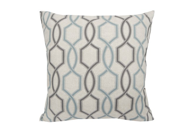 Accent Pillow-Hampton Trellis Teal 18X18 - 360