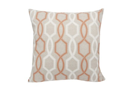 Accent Pillow-Hampton Trellis Orange 18X18