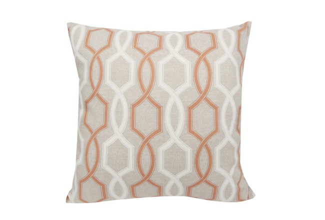 Accent Pillow-Hampton Trellis Orange 18X18 - 360