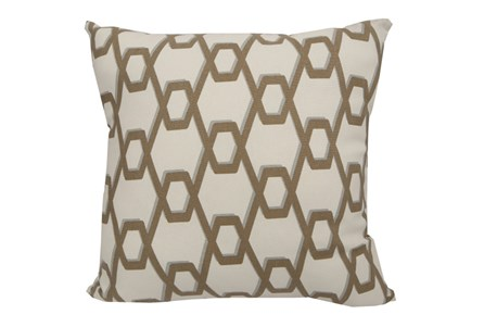 Accent Pillow-Gold Helix 18X18