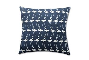 Accent Pillow-Navy Flamingos 18X18