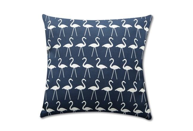 Accent Pillow-Navy Flamingos 18X18 - 360