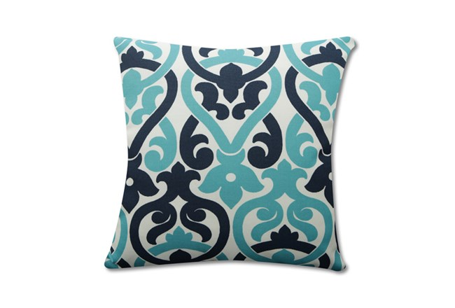 Accent Pillow-Harnett Damask Teal 18X18 - 360