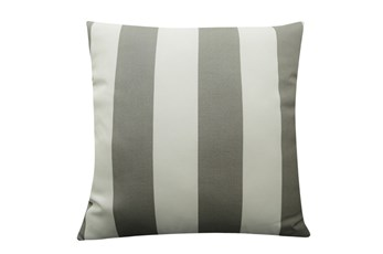 Accent Pillow-Wide Stripe Grey 18X18