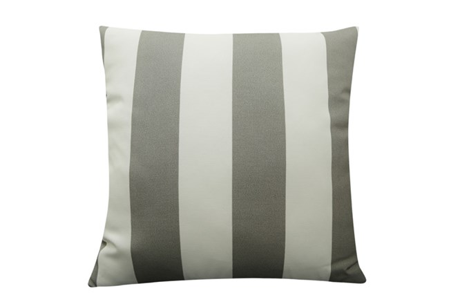 Accent Pillow-Wide Stripe Grey 18X18 - 360