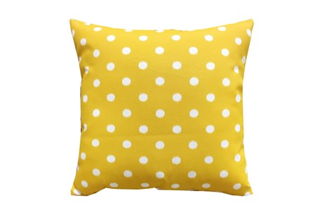 Accent Pillow-Yellow Dots 18X18 - Main