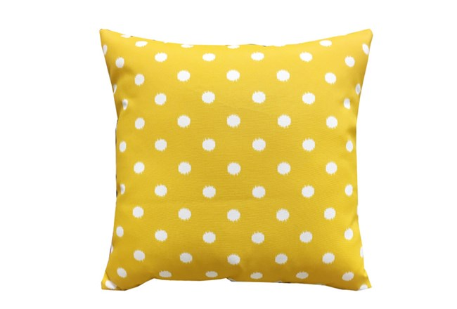 Accent Pillow-Yellow Dots 18X18 - 360