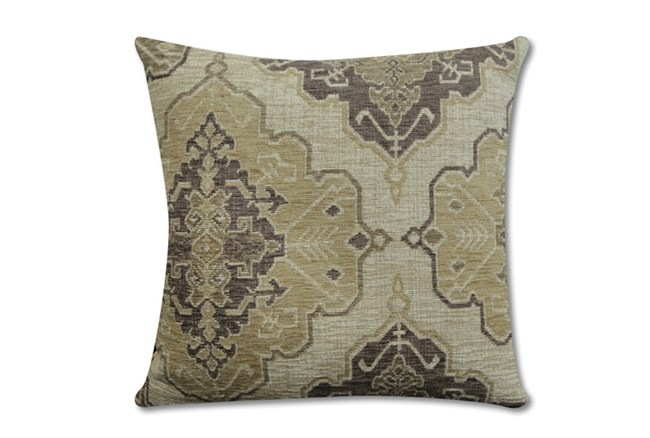 Accent Pillow-Tapestry Taupe 22X22 - 360