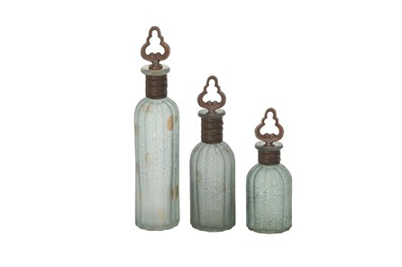 3 Piece Set Aquatic Stopper Bottles - Main