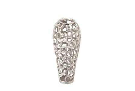 Silver Decorative Vase Small - Main