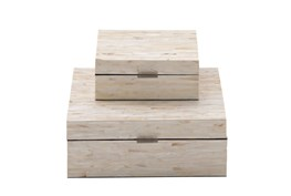 2 Piece Set Mother Of Pearl Boxes