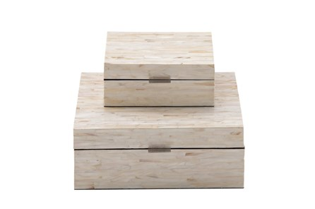 2 Piece Set Mother Of Pearl Boxes - Main