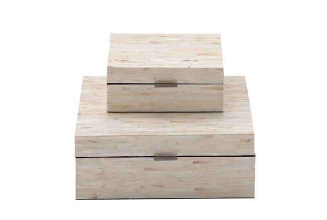 2 Piece Set Mother Of Pearl Boxes - 360