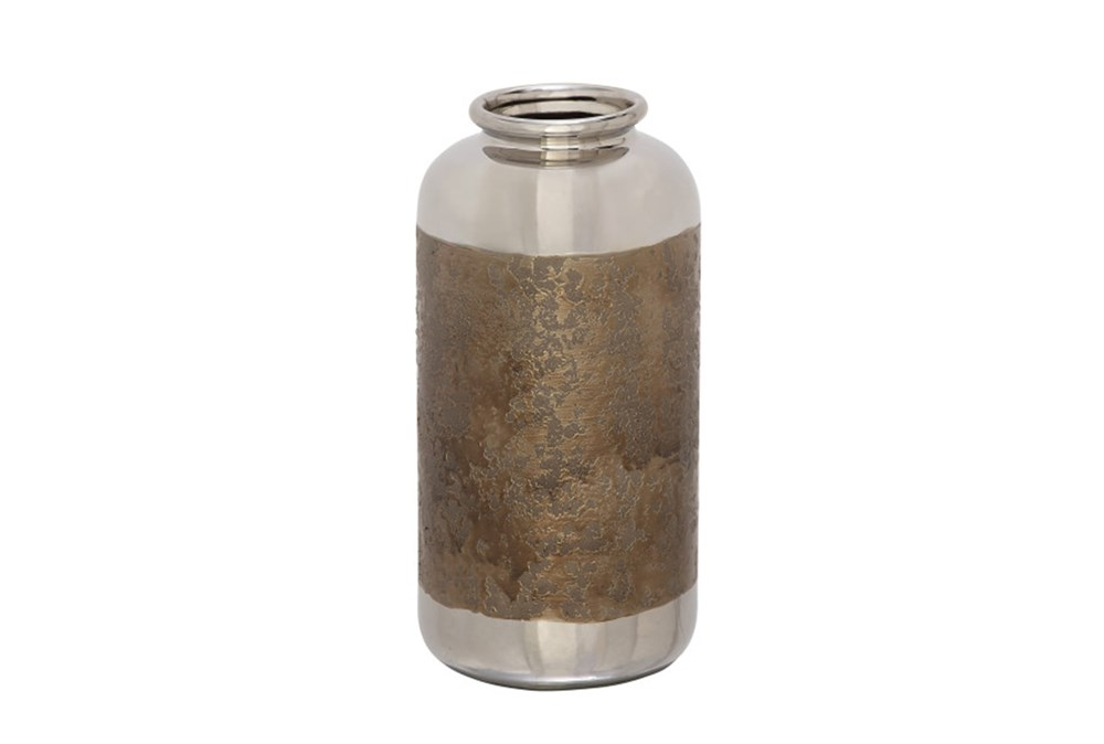 Bronze And Silver Vase Medium