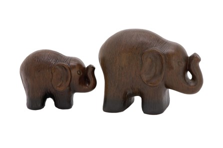 2 Piece Set Standing Elephants - Main