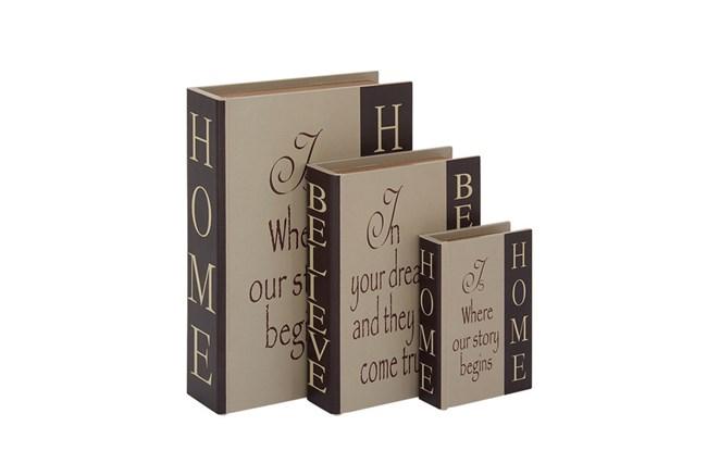 3 Piece Set Home & Believe Boxes Dark - 360