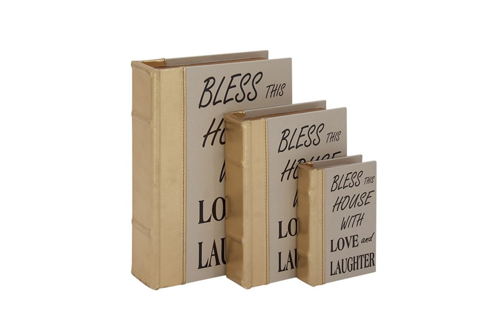 3 Piece Set Bless This House Boxes