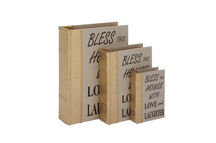 3 Piece Set Bless This House Boxes - Main