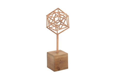 Copper Sculpture On A Stand