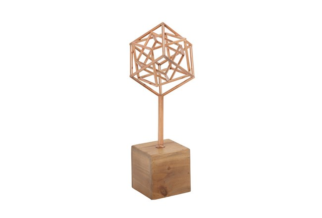 Copper Sculpture On A Stand - 360