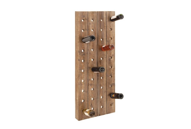 20 Inch Wood Wine Rack - 360