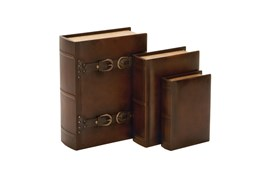 3 Pieces Set Wood Buckle Boxes