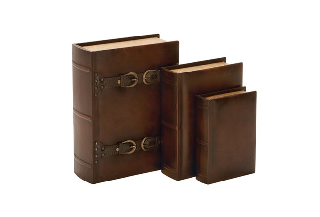 3 Pieces Set Wood Buckle Boxes - 360