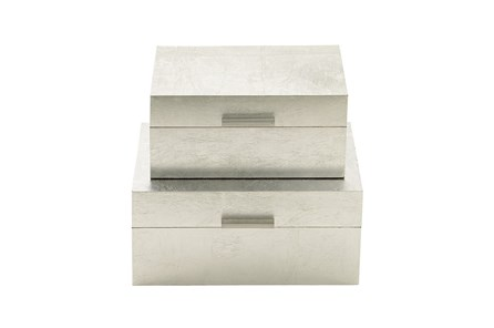 2 Piece Set Silver Boxes - Main