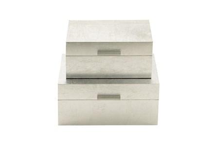 2 Piece Set Silver Boxes