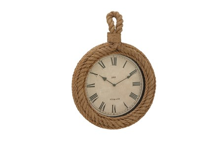 Wood Rope Wall Clock Circle