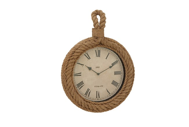 Wood Rope Wall Clock Circle - 360