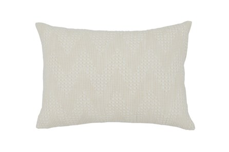 Accent Pillow-Basic Chevron Cream 14X20 - Main
