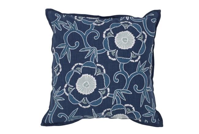 Accent Pillow-Marine Blue Floral 18X18 - 360
