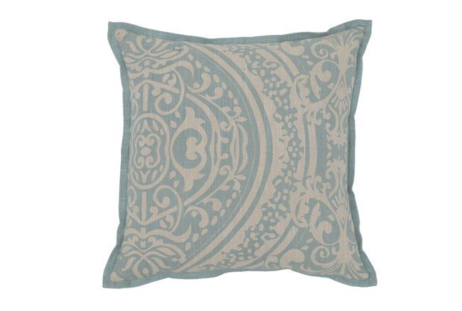 Accent Pillow-Aqua Henna Print 18X18 - 360