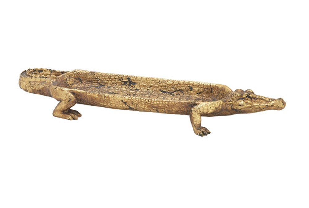 Resin Crocodile Tray