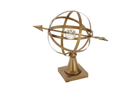 Gold And Crystal Globe - Main