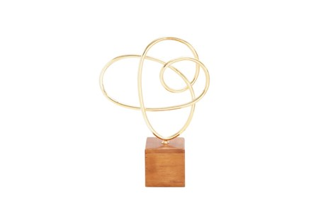 Metal Wood Gold Sculpture