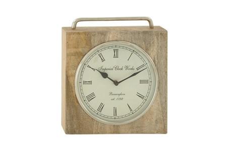 Wood Metal Table Clock