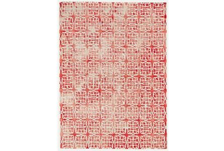 60X96 Rug-Red Tie Dye  Cubes