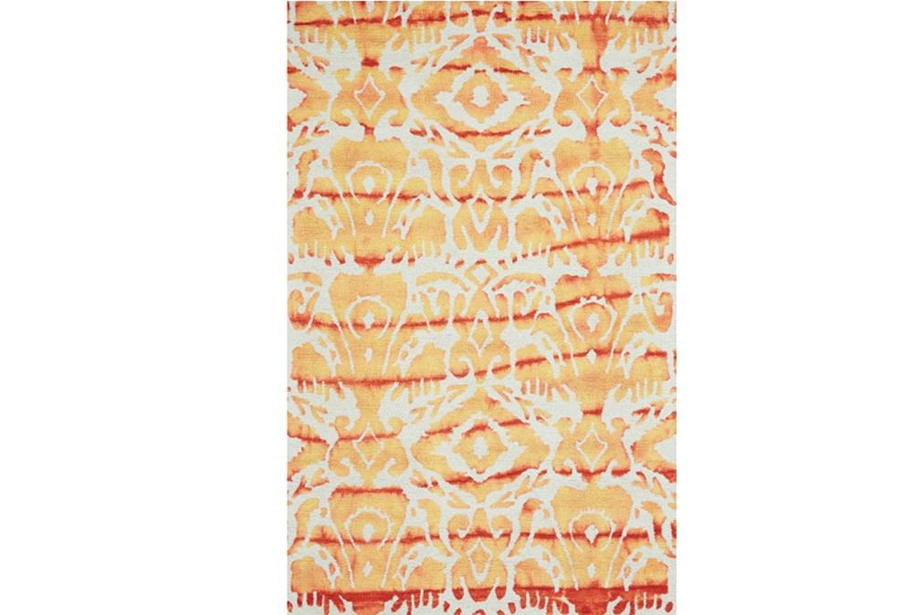 8'x11' Rug-Orange Tie Dye Ikat